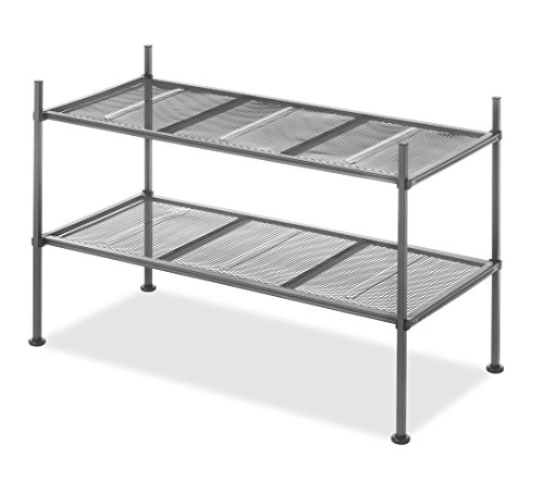 Whitmor  Gunmetal 2-Tier Mesh Shelves 2 Shelf Unit