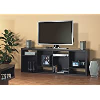 Monarch Specialties Hollow-Core TV Console or Bookcase, Cappuccino
