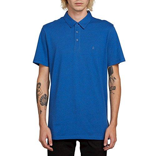 Volcom Wowzer Modern Fit Cotton Polo Shirt Estate Blue