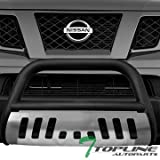 nissan xterra bull bar - Topline Autopart Matte Black Bull Bar Brush Push Front Bumper Grill Grille Guard With Brush Aluminum Skid Plate For 05-17 Nissan Frontier ; 05-07 Pathfinder ; 05-15 Xterra