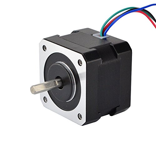 STEPPERONLINE 17HS13-0404S1 Stepper Motor for 3D Printer DIY CNC Robot, -10-50 Degree C, 0.4 Amp, Black by STEPPERONLINE