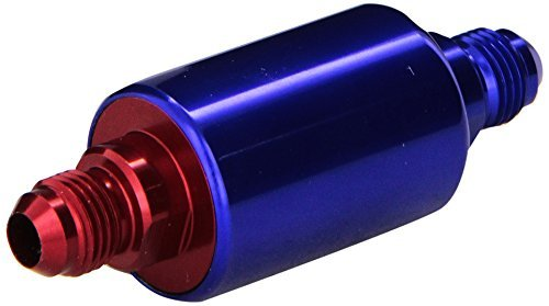 Edelbrock 8130 Blue Anodized Aluminum Fuel Filter, Model: 8130, Outdoor&Repair Store