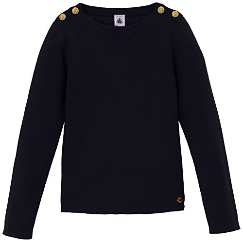 Petit Bateau Girl's Sweater with Gold Buttons, 8A by Petit Bateau