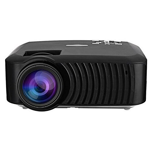Projector(Warranty include), XINDA 2200 LED Luminous efficiency HD Projector Home Cinema Theater Portable LCD LED Multimedia Projector Support USB HDMI AV SD VGA Black(Free HDMI Cable)XD22B
