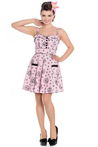 Hell-Bunny-Mini-Keepsake-Sugar-Skull-Pink-PinUp-Dress