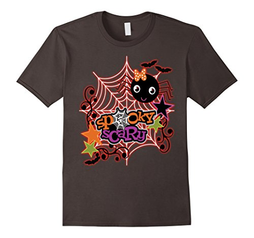 Spider Costume Homemade (Mens Halloween Costume Shirt Spooky Scary Spider Cute Halloween Large Asphalt)