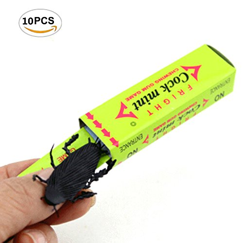 10 Pcs Cockroach Snapping Chewing Gum Tricky Prank Gag Funny Toy Shock Friends Practical Joke, Random (Time Greatest Bubble Gum)