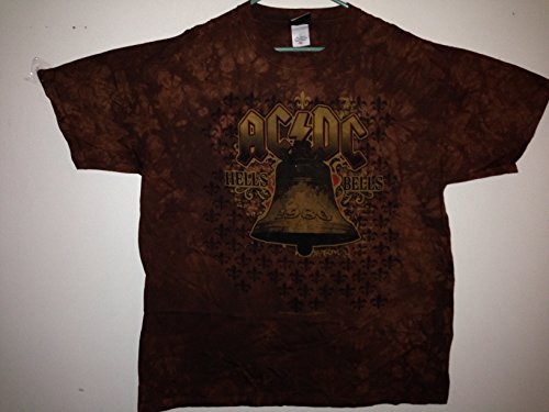 - New AC/DC Mens Large 1980 Hells Bells Tour Tie Dye Large Concert T-Shirt