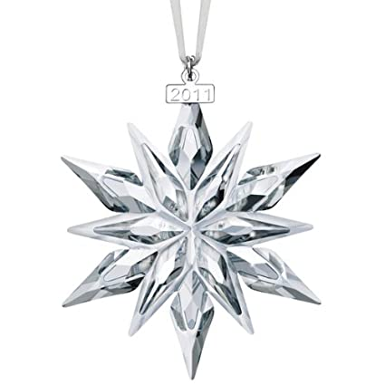ed28ed7ea Amazon.com: Swarovski 2011 Annual Edition Crystal Snowflake Ornament: Home  & Kitchen