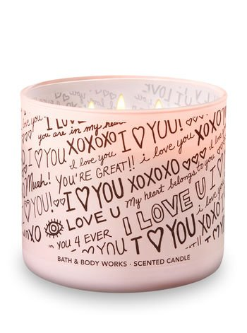 Bath and Body Works Candle 3 Wick ''I Love You'' Scent Honeysuckle Bouquet 14.5 Ounce by Bath & Body Works (Image #1)
