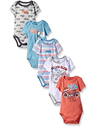Baby Boys' Assorted Short Sleeve Bodysuit (Pack of 5)