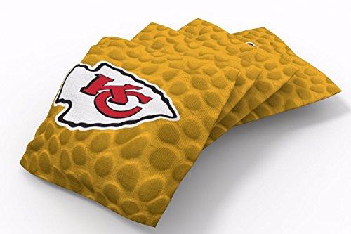 - PROLINE 6x6 NFL Kansas City Chiefs Cornhole Bean Bags - Pigskin Design (A)
