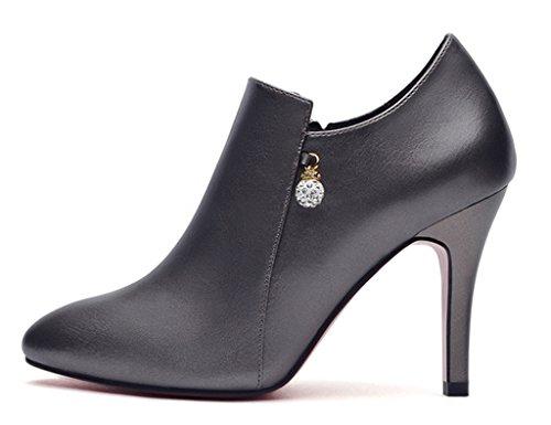 Color Femme Talon Mince Taille Femmes Simples Color Gun Bouche Hwf Chaussures 37 Peu couleur Sexy Noir Printemps Haut Profonde dqXZaYw