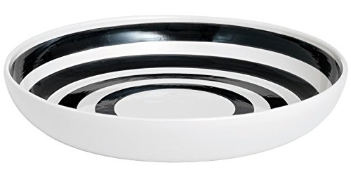 Contemporary Serving Dishes - Kahler Omaggio Ceramic Serving Dish - 300mm (11.8 In.) - Handmade Faience (White / Black)