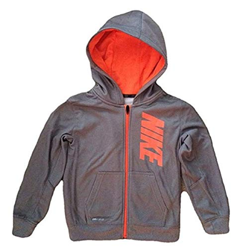 Nike Boys Therma Fleece Hoodie (6 years, Grey/Mango)
