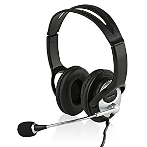 Sonitum USB Headset for Computer, Chat, Skype, Webinar, Call Center Headphone - Noise-Cancelling Flexible Microphone - Super Comfortable Ear Pads - USB 6ft Cable - Easy Accessible Button Controls