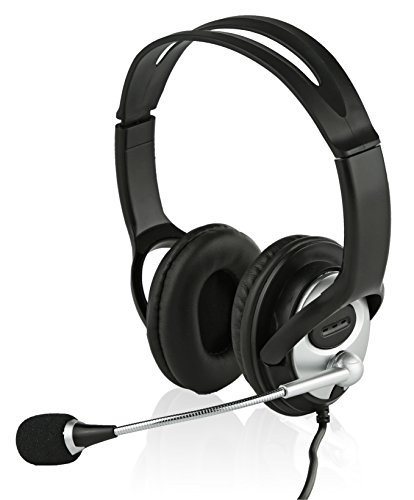Sonitum USB Headset for Computer, Chat, Skype, Webinar, Call Center Headphone - Noise-Cancelling Flexible Microphone - Super Comfortable Ear Pads - USB 6ft Cable - Easy Accessible Button Controls Boom Microphone Desktop Cable
