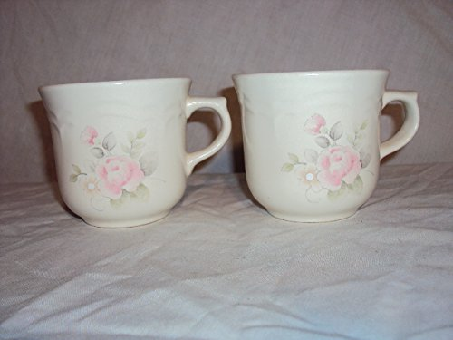 Pfaltzgraff Tea Rose 9 Oz Coffee or Tea Cups Set of 2