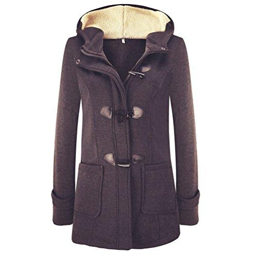 di Deep Maniche invernale Donna lana Cappotto blended Casual Lunghe Maglione Grey WanYang Cappotto Giacca Camicia ESFqOBww