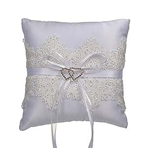 YoZhanhua - Almohada de encaje para anillos de boda o novia ...