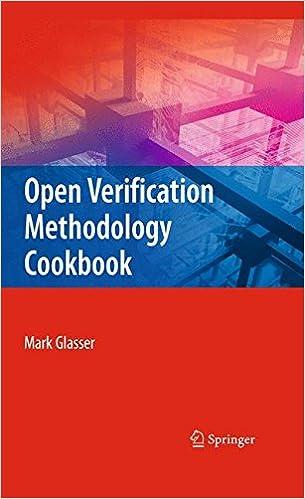 Open Verification Methodology Cookbook: Mark Glasser