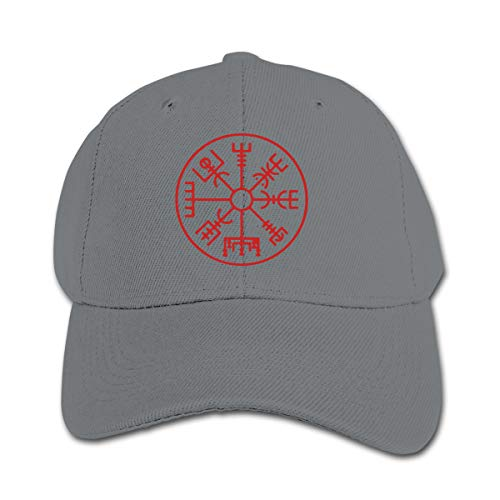 Infant Toddler Baby Viking Symbol Nordic Compass Baseball Cap Adjustable Trucker Cap Sun Visor Hat Gray