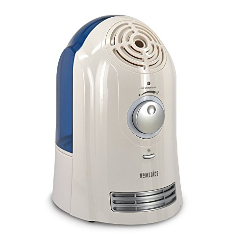 HoMedics Cool Mist Ultra Humidifier, 1 gallon, whisper quiet, runs up to 45 hours, auto shut-off, on/off night light - Germ Free, Home, Office, Baby (Certified Refurbished)