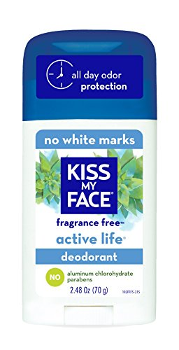 Active Face Care (Kiss My Face Active Life Aluminum Free Deodorant, Fragrance Free, 2.48 Ounce Stick (Pack of 6))