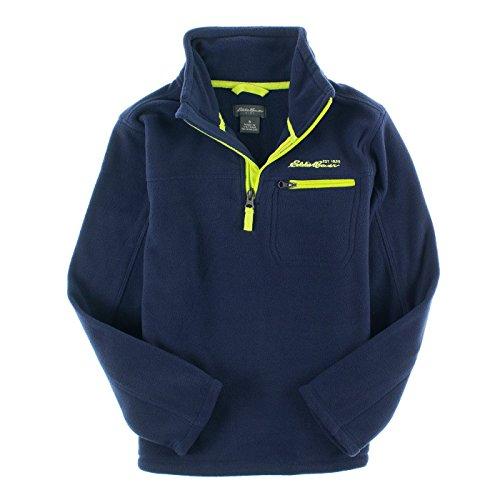 Eddie Bauer Boys 8-20 1/2 Zip Micro Polar Fleece (12, Navy) (Micro Fleece 1/2 Zip Pullover)