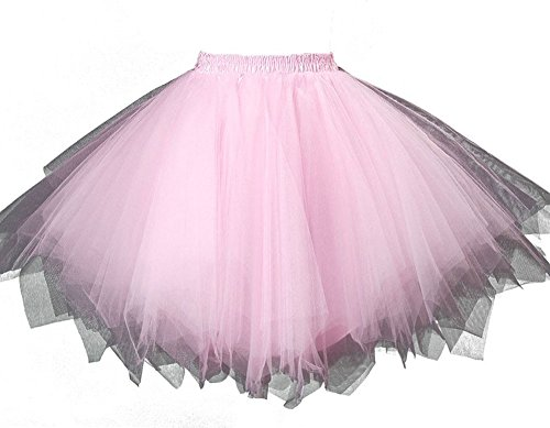 MsJune Women's 1950s Vintage Petticoats Crinolines Bubble Tutu Dance Half Slip Skirt (Chinese Themed Dance Costumes)
