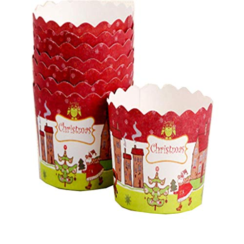 Christmas Cupcake Wrapper Muffin Cases Paper Baking Creative Decoration Cake Mold Bakeware -