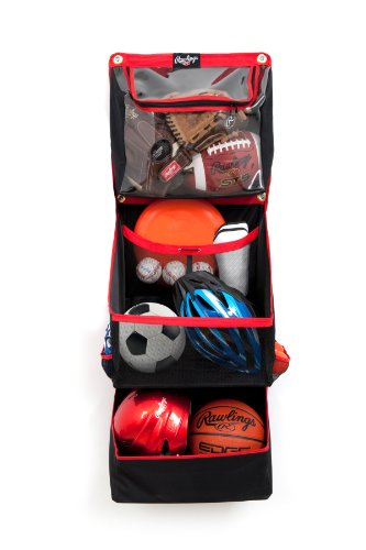 Crawford-Lehigh FSSBH16 Crawford Horizontal Sport Storage Organizer, 8-1/2 in L X 18 in W X 48 in D, Red, 8-1/2