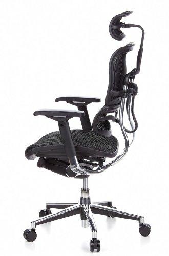 Ergohuman Bürostuhl mit Netz-Stoff, schwarz - 12