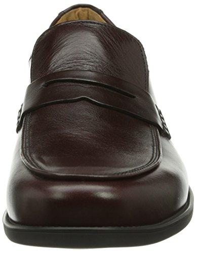 Ganter GREG, Weite G - Zapatillas de casa de cuero hombre Mehrfarbig (bordo 4500)