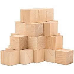 Baby Wood Square Blocks, 24 Pieces