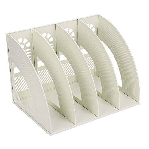 [해외]SAYEEC File Holder Storage Folder 4 Compartment Standing Desktop Hollow Organizer File Shelf Frame Thicken Plastic Paper Notebook Magazine Bookstore for Office School Supplier Students / SAYEEC File Holder Storage Folder 4 Compartm...