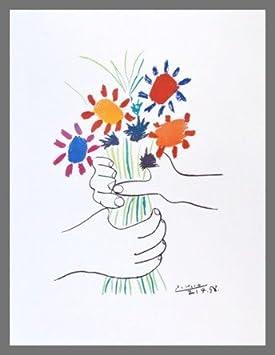 Pablo Picasso Ramo de Flores en la Mano Póster De Impresión De