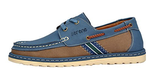 Serene Christmas Mens New Style Textile Canvas Shoes Snekaers(8 D(M)US, Blue)