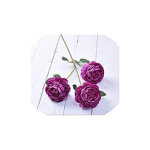 V-K-YA Long Artificial Flower 3 Head Home Silk Peony Wedding Rose Flower Decoration,11 39