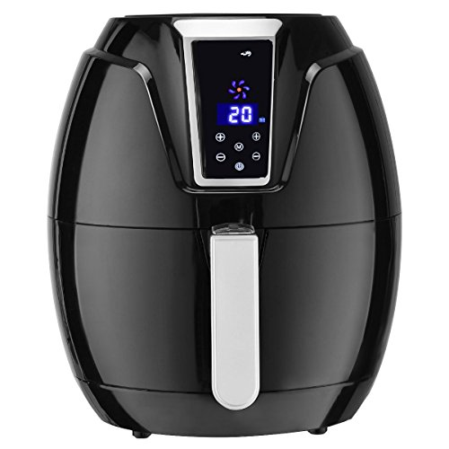 Costzon Electric Air Fryer, 3.4 Quart 1400W, Healthy Oil Free Cooking, 7-In-1 Electric Deep Cooker with LCD Touch, Temperature and Time Control, Dishwasher Safe, Detachable Basket Handle by Costzon (Image #2)
