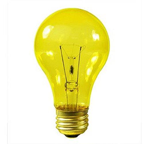 ransparent Yellow Incandescent Medium Base Party Light Bulb (Yellow Incandescent Light Bulb)