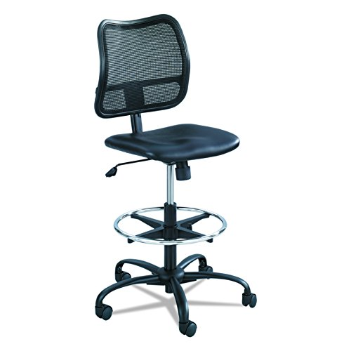 Safco Products Vue Mesh Extended-Height Chair 3395BV, Ergonomic, Black Vinyl
