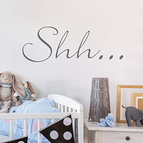 Wall Sticker Shh Decals Wall Art Wall Quote Home Decor Wall Stickers Decoration Baby Decor Saying Quiet Wall Tattoo 24.5cm X -