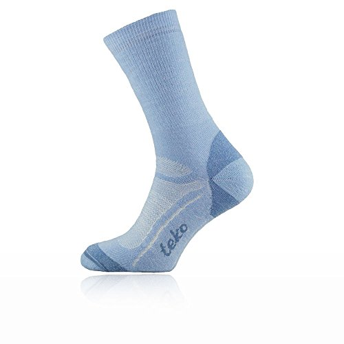 Teko Women's Merino Wool SIN3RGI Blend Medium Cushion Crew Height Socks, Della, Small