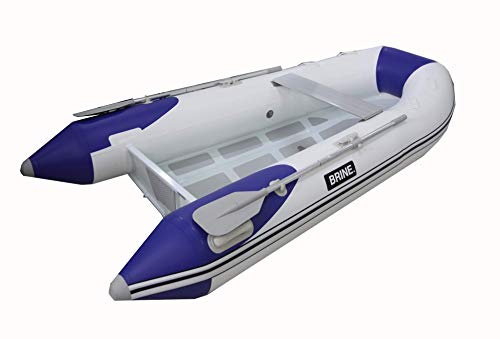 Aluminum RIB Dinghy Tender 10 Rigid Aluminum Hull Inflatable Boat 10 feet - USCG Rated 3.5 Person 20 HP Motor. Compact Storage, Fast Setup and Top Performance. Pump & Accessories Included