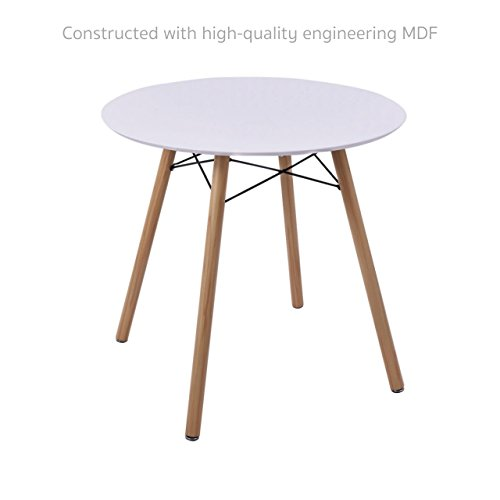 Computer Laptop Round Table Student Study Writing Learning Modern Home Kitchen Dining Office Furniture Workstation Desk # White 1650 (Outdoor Furniture Amart)
