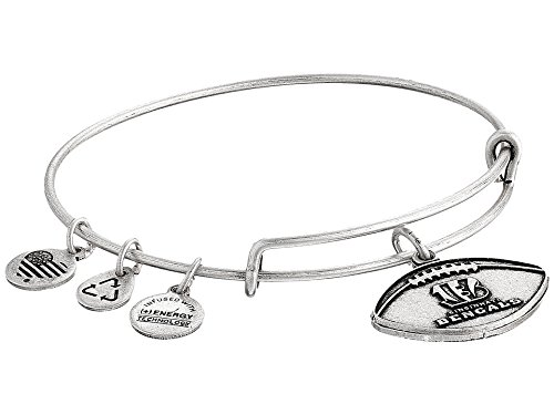 Alex and Ani Women's NFL Cincinnati Bengals Football Bangle Rafaelian Silver One Size