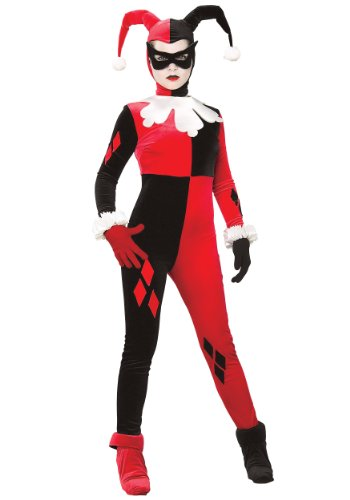 [Rubies Costume Co. Inc womens Adult Harley Quinn Costume X-Large] (Red Jumpsuit Costume)