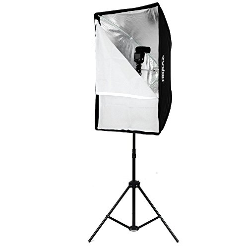 Godox Portable 60x90cm 24'' 35'' Umbrella Photo Softbox Reflector for Flash Speedlight 2m Light Stand + Hot Shoe Adapter by Godox