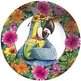 Caribbean Parrot Luau Party 6-inch Plastic Bowl 6 Per Pack